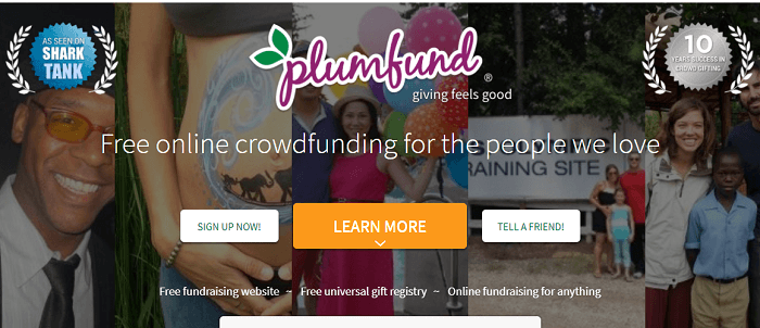 Plumfund crowd-gifting platform
