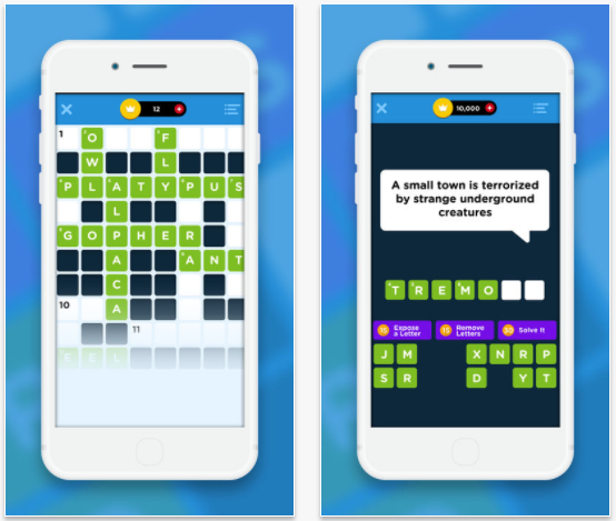 Crossword Quiz+ crossword app for iPad