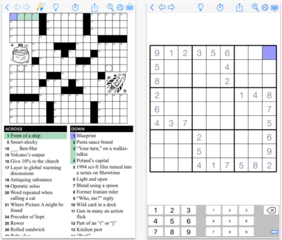 Puzzazz Crossword & Puzzle crossword app for iPad