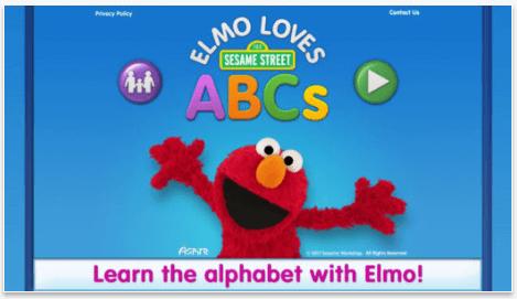 Elmo Loves ABCs app for ipad