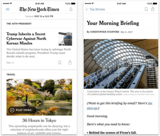 NYTimes Crossword app for iPad