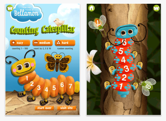 Counting Caterpillar math app for kids