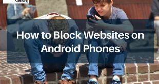 How to Block Websites on Android Phones: 2 boy sitting on brown floor while using their smartphone