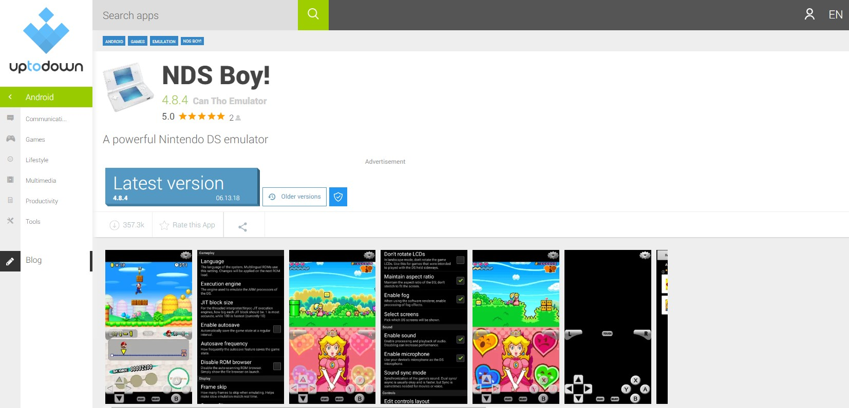 NDS Boy! Nintendo 3DS Emulator