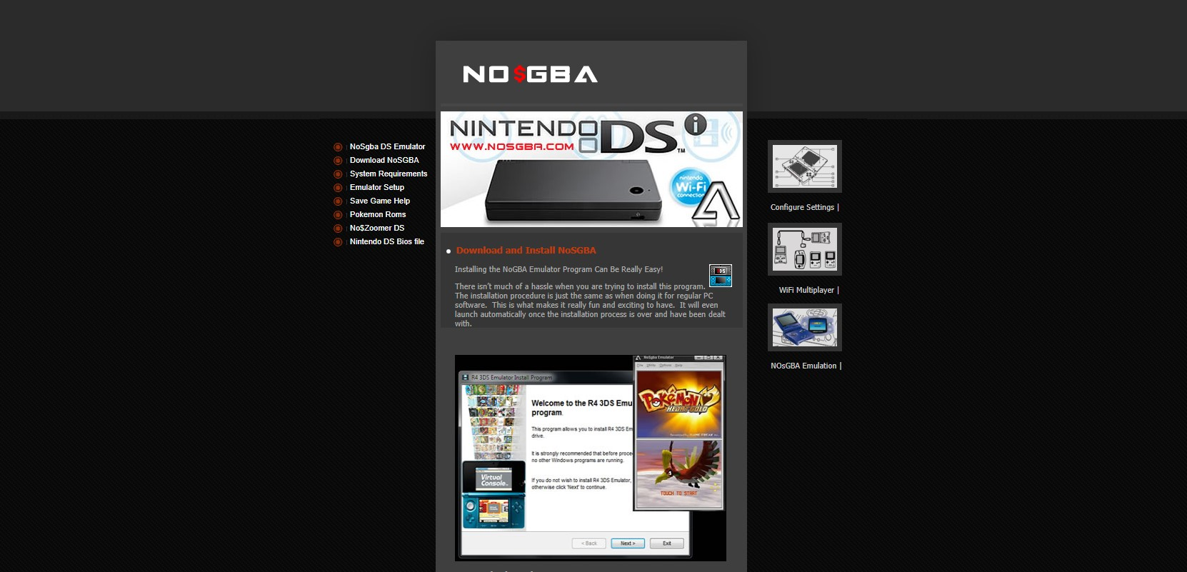 No$GBA Nintendo 3DS Emulator