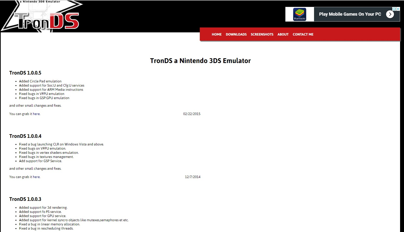 TronDS Nintendo 3DS emulator