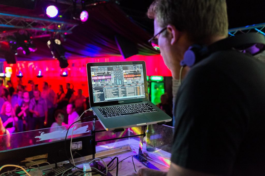 dj playing music on a party