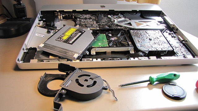 fixing laptop